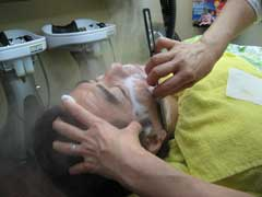 クレンジング、お顔剃り、耳そうじ、フェイスマスク。
